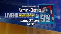 Extraits Vernon SMV / Chartres Metropole 28 - ProD2 Handball