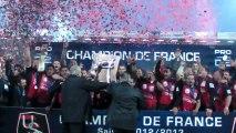 Rugby Pro D2 - Oyonnax champion de France 2012-2013