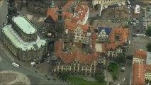 Vues d'en haut -La Saxe dans l'Est de l'Allemagne.