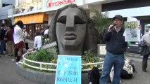 【2013/4/27】TPP反対渋谷デモ後のモヤイ像前チラシ配布 街宣 6