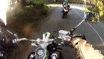 Motard percuté de face par une moto