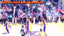 Watch Los Angeles Lakers vs San Antonio Spurs 2013 Playoffs game 4 Streaming For Free