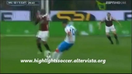 Milan-Catania 4-2 Highlights All Goals