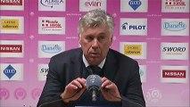 Conférence de presse Evian TG FC - Paris Saint-Germain : Pascal DUPRAZ (ETG) - Carlo ANCELOTTI (PSG) - saison 2012/2013