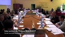 Intervention de Ph. MAURIZOT sur l'Institut Eco-citoyen lors du Conseil municipal de Fos-sur-Mer du 27-3-13