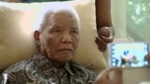 S. African president visits with Nelson Mandela