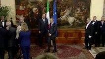 Roma - Letta passa in rassegna il reparto d'onore a Palazzo Chigi - Monti (28.04.13)