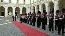 Roma - L'arrivo del Presidente della Repubblica di Israele, Shimon Peres (30.04.13)