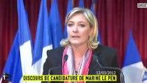 """Lapsus: Marine Le Pen bute sur la """"démocratie"""""""