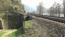 Züge bei Braubach, MRCE 189, Crossrail 185, HTRS 185, 101, 2x 155, DBAG 185, 2x 428