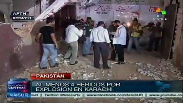 Explosión en sede del Mov. Muttahida Quami de Karachi