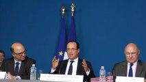 François Hollande sur la croissance à Mamerolle (Doubs)