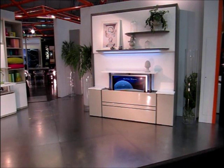 Tv Escamotable Lit françois desile - lit coulissant et tv pivotante