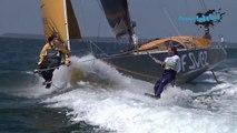 Sebastien Rogues, skipper GDF SUEZ et Alexandre Caizergues, kitesurfer de lextrême