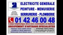 ENTREPRISE GÉNÉRALE DE BÂTIMENT - 0142460048 - PARIS 6eme - SERRURERIE SERURIER ELECTRICIEN PEINTRE PEINTURE ELECTRICITE MENUISERIE MENUISIER
