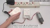 Kit Interrupteur sans fil/Commande Moteur Électrique 9V 12V 24V Fonction Temporisation Adjustable 10~60s