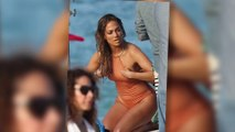 Jennifer Lopez Looks Amazing in a 'Nude' Swimsuit on Music Video Set