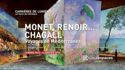 """Carrières de Lumières - Spectacle """"Monet, Renoir... Chagall. Voyages en Méditerrannée"""""""