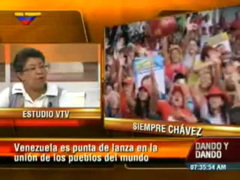 Lídice Navas: Con Chávez Venezuela comenzó a ser punta de lanza en la integración de América Latina