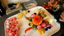 Confectionner un Bouquet de Fleur en Fruits et Légumes par Cédric de cuisine astuce