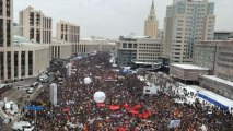 Russian opposition protesters demand political reforms