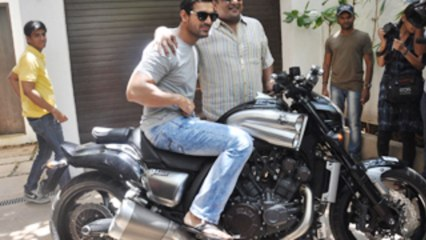 John Abraham Looks Handsome On Yamaha V Max!