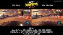 DiRT Showdown - GTX 660 vs GTX 660 SLI - 1080P