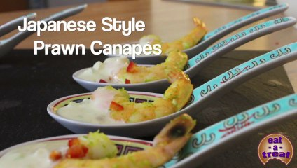 Prawn Canapes - Japanese Style