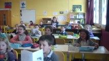 Classe des CP de l'école Jean Leuduger pour les EB1 de l'école Cadmous de Tyr au Liban printemps 2013