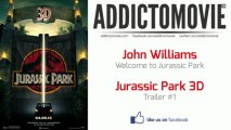Jurassic Park 3D - Trailer #1 Music #3 (John Williams - Welcome to Jurassic Park)