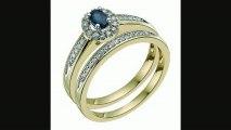 9ct Yellow Gold Diamond & Sapphire Bridal Set Review