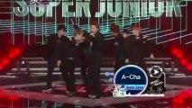 20111223 Super Junior Intro + Superman + A-CHA + Mr. Simple + White Christmas @Music Bank