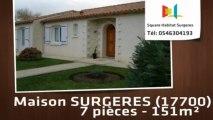 A vendre - Maison/villa - SURGERES (17700) - 7 pièces - 151m²