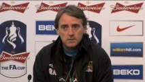 """Mancini: """"Vogliamo la seconda FA Cup in tre anni"""""""