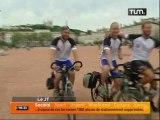 Trois cyclistes au grand coeur
