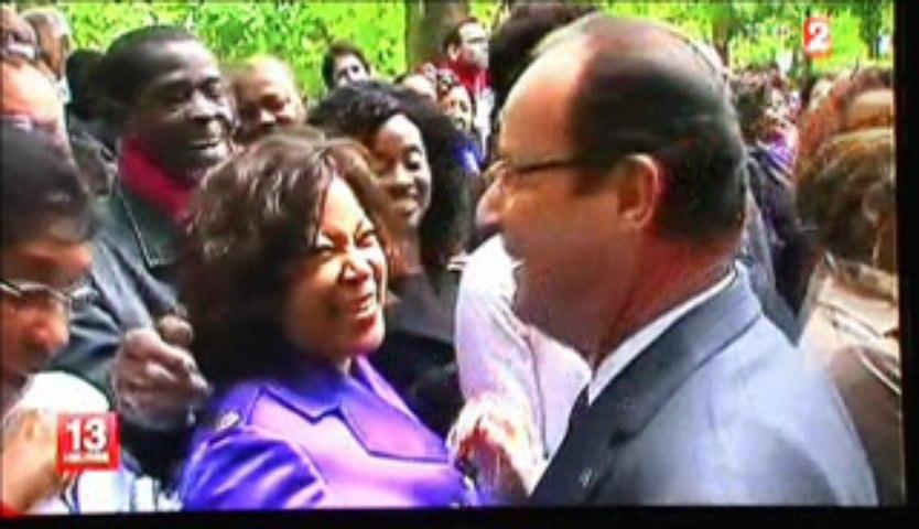 Journée esclavage  - Rencontre Cecile Dimouamoua- Francois Hollande
