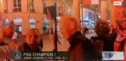 Ambiance sur les Champs-Elysées pour fêter le titre de champion du PSG
