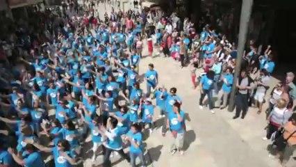 Le Flashmob des 25 ans de France Bleu Touraine