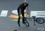 Mathias Dandois - 1st place Qualif BMX Flat Pro - FISE World Montpellier - 2013