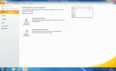 Outlook 2010 | Création d'un compte de Messagerie
