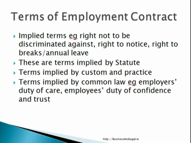 Employment Contracts in Irish Employment Law
