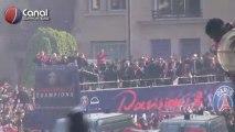 Remise du Trophée de Champion de France au PSG, au Trocadéro