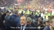 Florentino Pérez contesta Tú eres tonto a Visca el Barça i Visca Catalunya