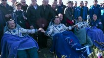 Commander Chris Hadfield Returns to Earth