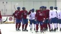 Canadiens practise before facing the Ottawa Senators