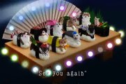 Des chats enroulés dans des sushis géants pour une publicité