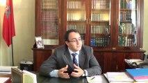 M.  Karim Ghellab... Dans une interview à la télévision Croitienne sur les réformes démocratiques au Maroc ..