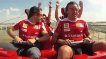 Alonso et Massa sur le grand huit du Ferrari World