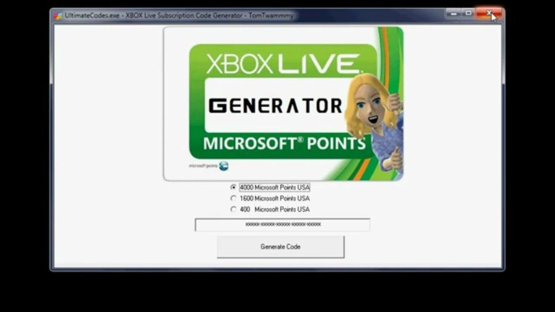 Xbox Live Microsoft Point Generator [Working - No Login or Survey] NO VIRUS