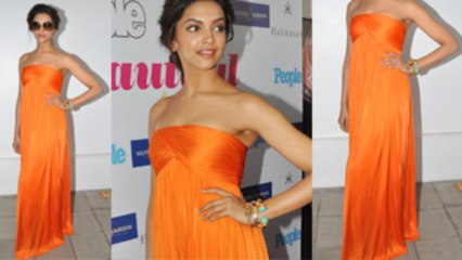 Deepika Padukone In Alexander McQueen Orange Jumpsuit!